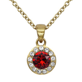 Birthstone Necklace 24K Gold Plated With Swarovski Crystals