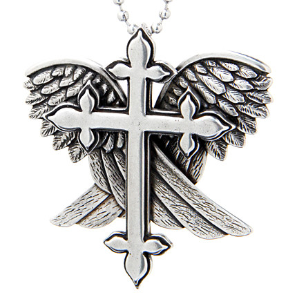 Cross With Wings Necklace Redemption Controse