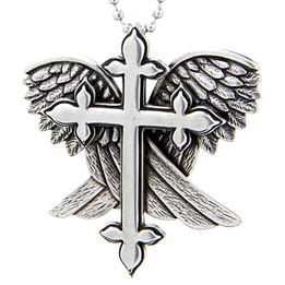 Redemption - Cross with Wings Necklace