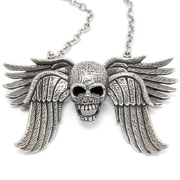Immortalia - Skull with Wing Necklace