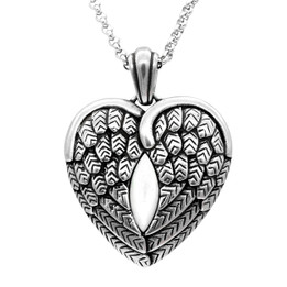 Wanderlust - Winged Heart with Mother Pearl Necklace