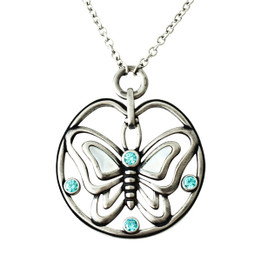 Butterfly Blues necklace