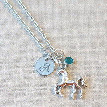 Personalized HORSE Necklace - Gift for Horse Lover