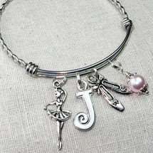 DANCER Jewelry - Personalized Ballet Bangle Bracelet