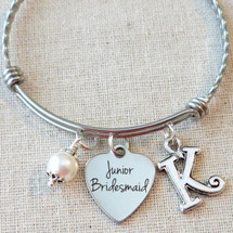 Jr BRIDESMAID Bracelet - Personalized Bridesmaid Keepsake Gift