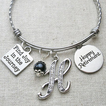 RETIREMENT Gift - Find Joy in the Journey Retirement Bangle Bracelet