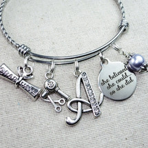 Hairstylist Graduation Gift - She Believed She Could So She Did Bracelet