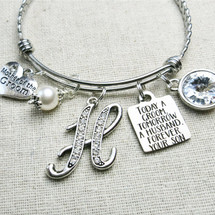 Mother of the GROOM Bracelet - Today a Groom Wedding Keepsake Gift
