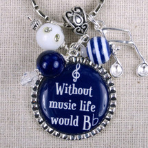 Music Quote Gift - Without Music Life Would Be Flat