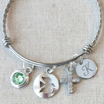 Personalized Gift for Goddaughter Confirmation - Catholic Dove Charm Bracelet