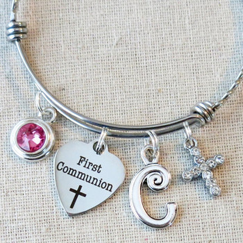 1st Communion Gift - First Communion Charm Bracelet
