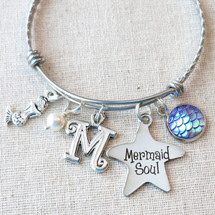 Personalized Mermaid Bracelet - Mermaid Soul Charm Bracelet