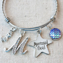 Mermaid Soul Personalized Bracelet - Mermaid Charm Bracelet
