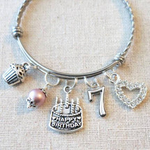 Little Girl Birthday Gifts - 7th BIRTHDAY GIRL Bracelet