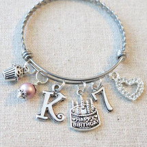 Personalized Birthday Gifts for Little Girls - 7th BIRTHDAY GIRL Bracelet