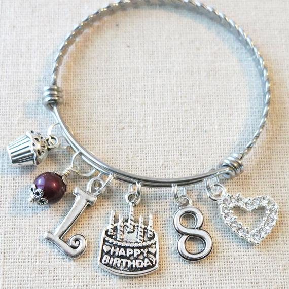 ab2f8ae9cc69e Personalized Birthday Gifts for Little Girls - 8th BIRTHDAY GIRL Bracelet