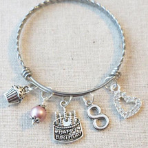 Little Girl Birthday Gifts - 8th BIRTHDAY GIRL Bracelet