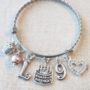 Personalized Birthday Gifts for Little Girls - 9th BIRTHDAY GIRL Bracelet