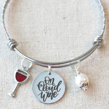 ON CLOUD WINE Bracelet - Wine Glass Charm Bracelet
