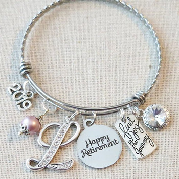 RETIREMENT GIFT- Retirement Jewelry Bracelet-Find the Joy in the Journey Congratulations Gift-Retirement Gifts for Women-End of Year Gift