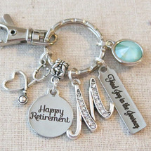 NURSE MEDICAL Retirement Key Ring, Personalized RETIREMENT Gift, Retirement Accessory, Happy Retirement Gift for Her, We'll Miss You Gift