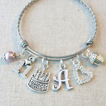 11th BIRTHDAY GIRL Gift - Personalized 11th Birthday Charm Bracelet