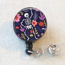 SKELETON Badge Reel, ORTHOPEDIC X-Ray Retractable Badge Reel, Radiology X-Ray Tech BONES Badge Holder Gift, Orthopedics Skeleton Badge Clip