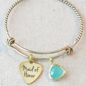 MAID Of HONOR Gift, Maid Of Honor Bracelet, MOH Jewelry, Bridesmaid Proposal Gift, Maid of Honor Proposal Gift, Bridesmaid Thank You Bracelet