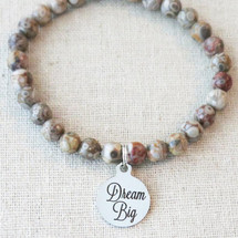 INSPIRATIONAL BRACELET, Dream Big Graduation Gift, Gift for Teen Girl, Motivation Bracelet, Stone Bead Bracelet