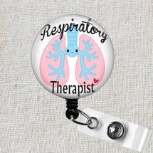 Respiratory Therapist RT Retractable Badge Reel, LUNGS Badge Reel, Respiratory Therapy RRT Lungs Badge Holder, Therapist Badge Clip Gifts