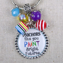 Art Teacher Gift - Teachers Like You Paint Bright Futures Key Ring