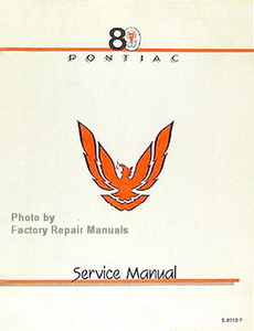 1989 Pontiac Firebird Service Manual