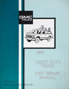 Original GMC Truck Factory Service Manual