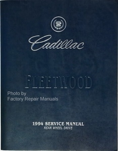 Original Cadillac Service Manual