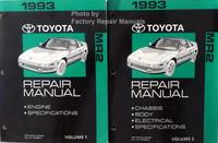 1993 Toyota MR2 Repair Manuals Volume 1 and 2