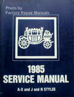 Fisher Body 1985 Service Manual A-X and J and N Styles
