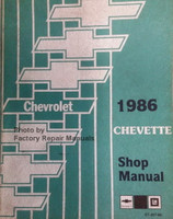 Chevrolet 1986 Cavalier Shop Manual