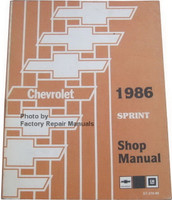 Chevrolet 1983 Sprint Shop Manual