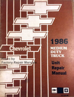 Chevrolet 1986 Medium Duty Truck Unit Repair Manual