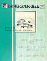 GMC Chevrolet Topkick/Kodiak 1991 Medium Duty Truck C5H, C6H, and C7H Models Service Manual
