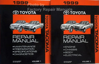 1999 Toyota Tacoma Repair Manual Volumes 1 and 2