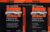 1999 Toyota Tacoma Repair Manual Volumes 1 and 2