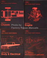 1973 Ford Truck Bronco Bus Shop Manual Volume 1, 2, 3, 4, 5