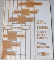 10-30 Series 1986 Chevrolet Light Duty Truck Wiring Diagrams
