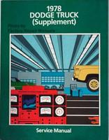 1978 Dodge Truck Supplement Service Manual