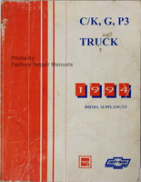C/K, G, P3 1994 Diesel Supplement GMC Chevrolet