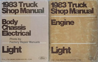 1983 Ford Light Truck Shop Manual Body, Chassis, Electrical, Engine