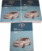 Scion 2008 Repair Manual xB Volume 1, 2 and 3
