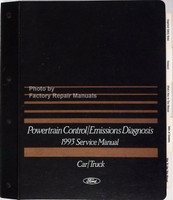 1993 Ford, Lincoln, Mercury Powertrain Control / Emissions Diagnosis Service Manual