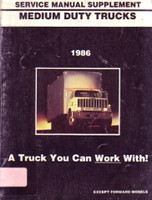 GMC Medium Duty Truck Service Manual Supplement 1986